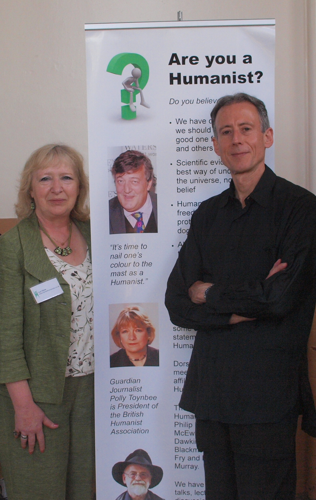 Our Vice-Chair Lyn Glass with human rights campaigner Peter Tatchell